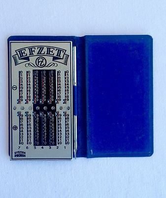 Vintage Rare German Efzet Portable Adding Machine/ Calculator