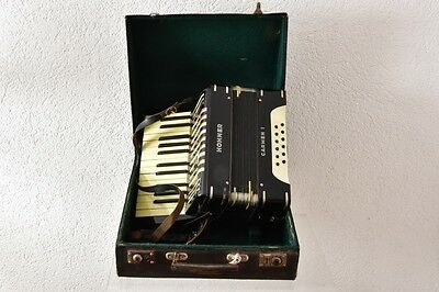 Antique Rare German HOHNER Carmen I Accordion in Original Case