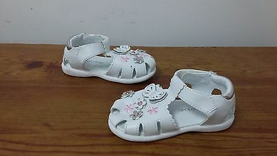 New Girls Toddlers Wonderkids Bonnie Casual Sandals Style 13072 White 28i lr