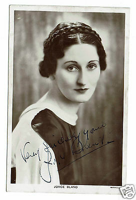 Joyce Bland Welsh Actress 1930s - Hand Signed Vintage postcard 5 x 3