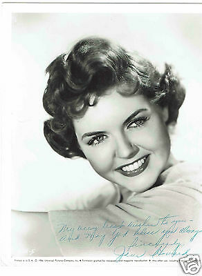 Jane Howard American Actress Hand Signed Vintage Photograph 10 x 8