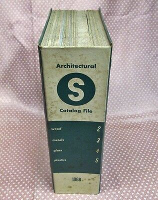 Sweet's 1968 Architectural Catalog File Sections 2-5 Wood Metal Glass & Plastics