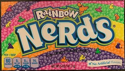2X New Rainbow Nerds Tiny, Tangy Crunchy Candy 5 Oz Free Worldwide Shipping