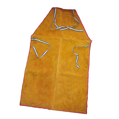 Orange Welder Apron Welding Clothing Workwear Safety Cowhide Leather Gear