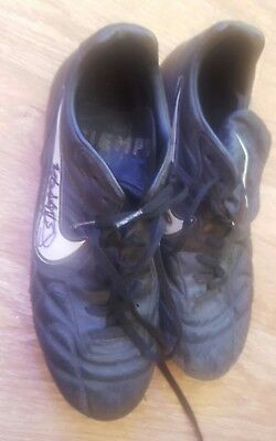 Patrick Berger Worn And Signed Boots Pair Well Used Liverpool
