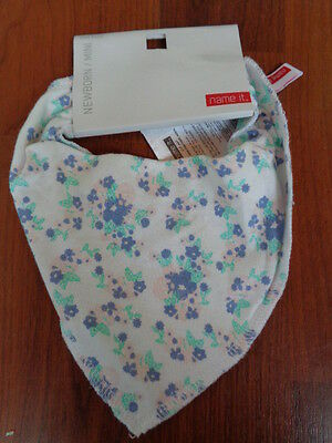 Name It Newborn Baby Girls Floral Dribble Bib Scarf Bandana One Size Bnwt