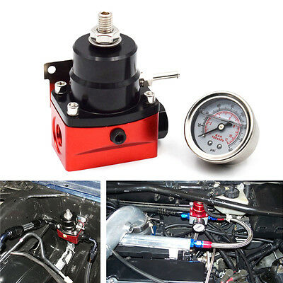 Sophisticated Adjustable Fuel Pressure Regulator + 160psi Gauge AN 6 Fitting End