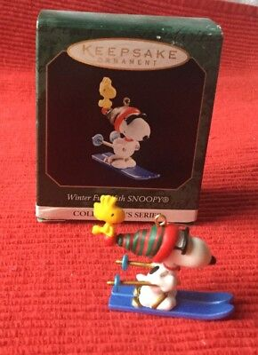 Hallmark Keepsake 1999 Fun With Snoopy Mini Ornament-#2 In Series-Mib