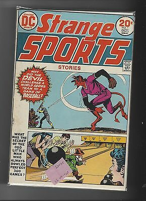 Strange Sports Stories 1 Devil Baseball Bowling 300 VF+