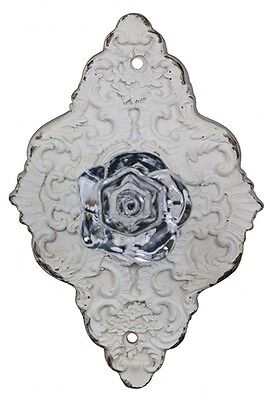 French Shabby Chic Style White Drawer and Door Handle with Faux Crystal Knob