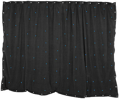 3 x 2m Nero Star panno con 96 BLU LED