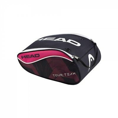 Head Tour Team Shoe Bag Navy/Pink/Violet Fits One Pair Of Tennis Shoes