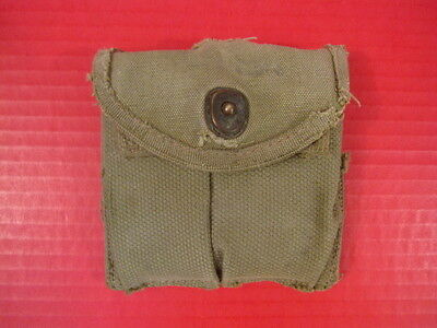 WWII M1 Carbine Magazine Stock or Belt Pouch - OD Green - Fair Condition