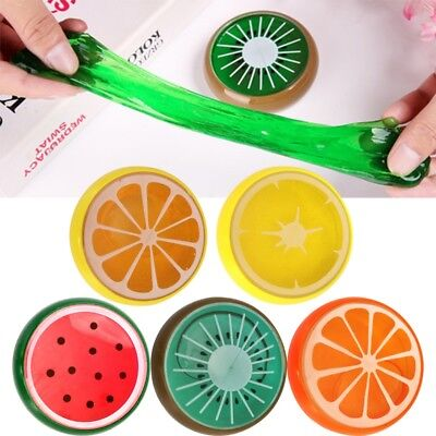 Funny Crystal Clay Rubber Mud Fruit Pattern Hand Gum Plasticine Slime Kid Toy
