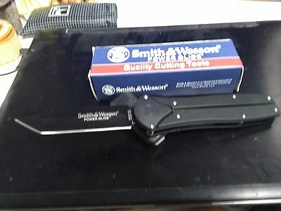Smith & Wesson Power Glide Knife (Rare) S&W With Belt Clip LOT 1