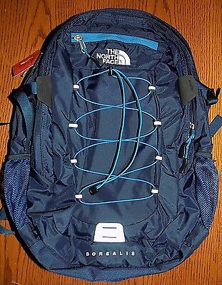 "NWT MENS THE NORTH FACE Borealis Backpack URBAN NAVY 15"" LAPTOP BAG FREE SHIP!"