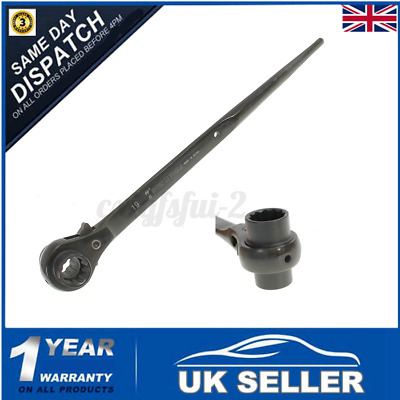 19x24mm Ratchet Podger Spanner Steel Erecting Scaffold Tool Wrench Double Socket
