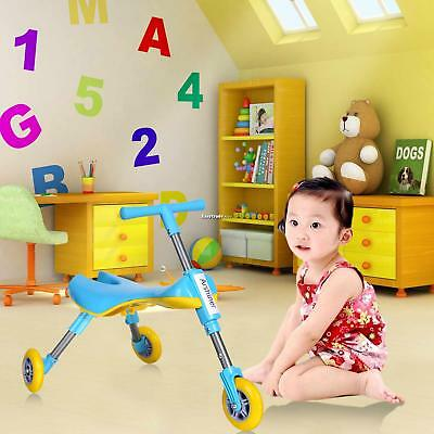 Foldable Fly Bike Indoor/Outdoor Toddlers Glide Tricycle - No Assembly Required