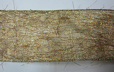 New 10yd Roll Ribbon 63mm Wired Edges Gold, Wedding, Birthday, Party, Presents