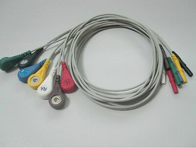 New din ECG lead wire, 7 leads, snap, AHA/ IEC G712DN/G722DN