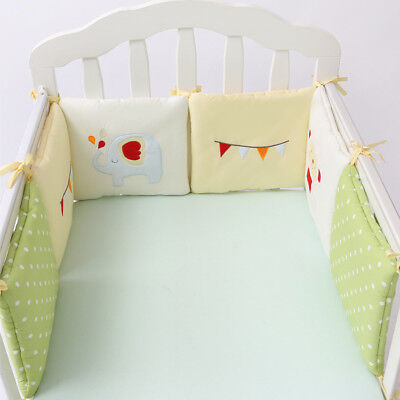 6 Pcs/Set Cotton Baby Cot Crib Bumper Full surround Infant Bed Bedding Bumpers