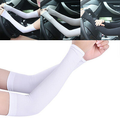 Camping Cycling Driving Golf Ice Arm Sleeves Anti-Sun Sunscreen Protector New
