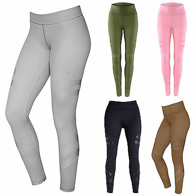 Womens Yoga Pants Exercise Gym Fitness Bottoms Athletic Leggings Sports Wear AU