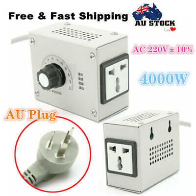 4000W AC 220V Variable Voltage Controller Control For Fan Speed Motor Dimmer