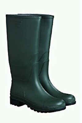Briers Traditional Wellington Boots PVC Green Garden Boot (Size 4 - 12)