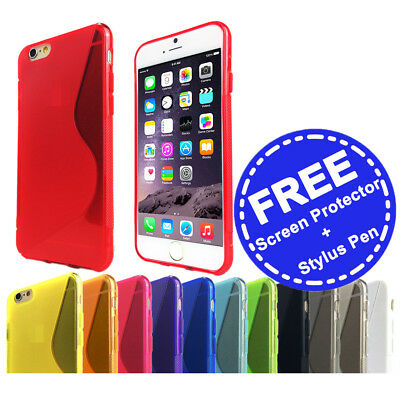 Thin Soft Gel Case Tough Silicone Cover for Apple iPhone 5 5s 5c SE 6 6s 7 Plus