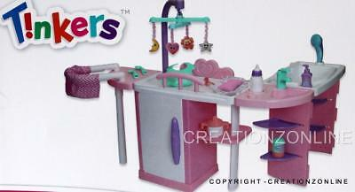 Nursery Centre By Tinkers Doll Change Table Play Sink Interchangeable Brand New