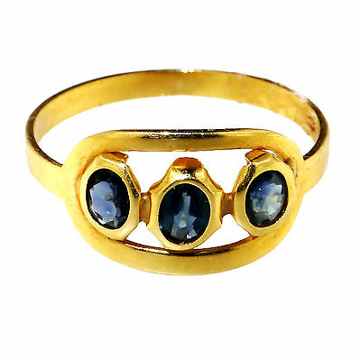 Gold ring with sapphires