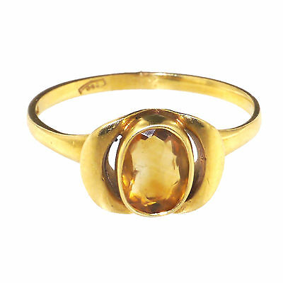 (1678) Gold ring with citrine