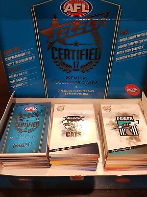 AFL 2017 Select Certified Complete Common Base Set All 220 Cards