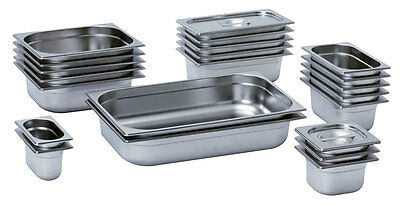 Gastronorm containers gastro pans stainless steel container, lids also available