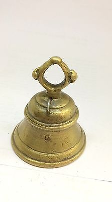 1900's  a small size hand crafted  antique  cow bell small with  rich patina