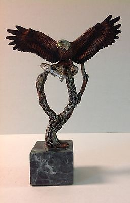 Kitty Cantrell Sculpture Legends 'Unbound' Eagle with Fish 870/2500