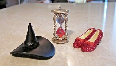 2013 Hallmark Miniature Ornaments Wizard Of Oz - Out Of Time - 3 Piece Set