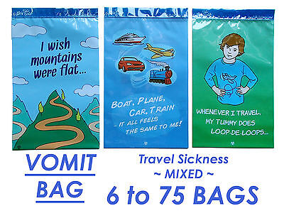 Travel Sickness Vomit Bags Motion Sickness Kit Cute Stylish Strong Press Seal