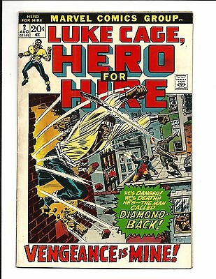 LUKE CAGE,HERO FOR HIRE # 2 (1st app. CLAIRE TEMPLE, Aug 1972), VG/FN