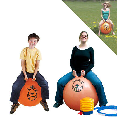 Large Exercise Retro Space Hopper Play Ball Toy Kids Adult Game 60Cm/80Cm + Pump