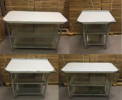 Stainless Steel Table With Extra Shelf Work Bench Catering Table Kitchen Top