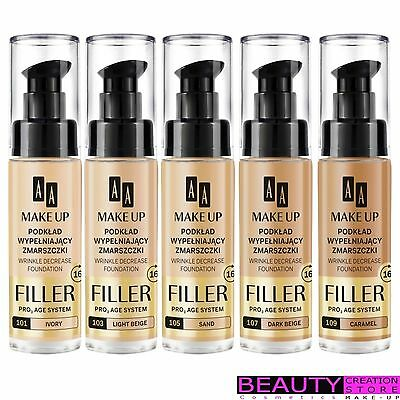 AA Make-Up Filler Wrinkle Decrease Foundation 30ml CHOOSE SHADE AA007