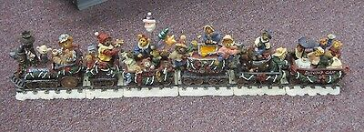 Retired Danbury Mint Resin Boyds Bear Christmas Train Boyds Xpress Choo Choo
