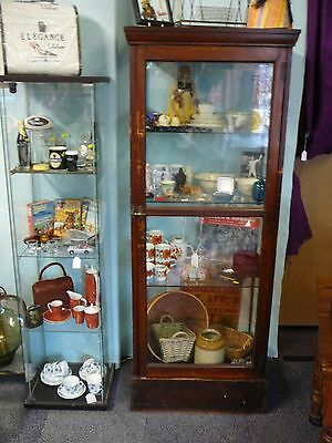 "Victorian Shop Display ""walk Around"" Cabinet With Original Glass Inc Shelves ."