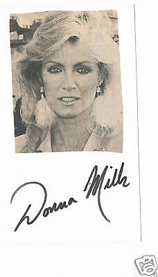 Donna Mills British Actress Hand Signed Card 6 x 3