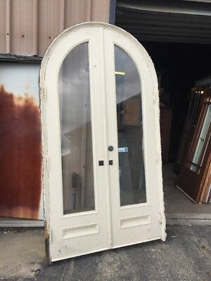 Pg 8 Antique Double Door Entrance Set With Jam 53.5 X 98 X 9.5