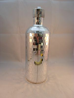 1- 750ml Absolut Vodka SILVER DISCO Bottle Cover (empty) Mirror Gift Hangable