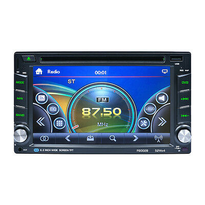 Double 2 Din Bluetooth In Dash Car/Van DVD USB CD Stereo FM MP3 Radio Player AUX