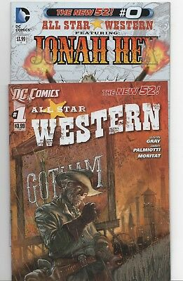 All Star Western #0-1 (DC, 2011) New 52! 1st Prints! 2 Issue Lot!